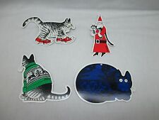 Vintage B Kliban CATS Variety Set of FOUR Cutout CARDBOARD DIE CUT Art Crafts