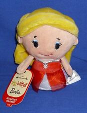 Hallmark Itty Bittys Holiday Barbie 2015 Blonde Bean Bag Plush New with Tags
