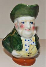 English Pottery J.Bull Character Toby Mug Jug Creamer Green Coat Arrel's Antique