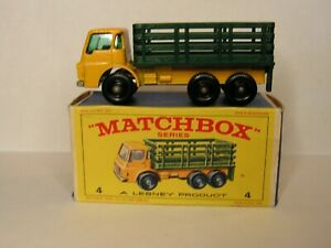Lesney Matchbox No. 4 Stake Truck & Original Box! MINT!