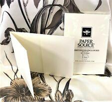 """Paper Source Pocket Folder Enclosures 5""""x 7"""" 10 pack Soft White"""