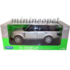 WELLY 12536 2003 LAND RANGE ROVER SUV 1/18 DIECAST MODEL CAR SILVER