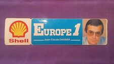 Autocollant/Sticker Vintage « Europe1/Shell-Jean Claude Dassier » Très Bon Etat