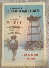 Hammond's Global Strategy Map Guide to the World NBC Radio VINTAGE RARE