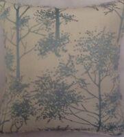 A 16 Inch Cushion Cover In Laura Ashley Silver Birch Duck Egg Fabric