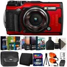 Olympus Tough TG-6 Digital Camera Red + 32GB Card + Photo Editor Bundle & Kit