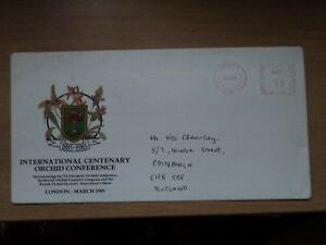 Souvenir Cover International Centenary Orchid Conference London March 1985