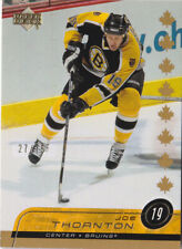 02-03 Upper Deck Joe Thornton /75 Canadian EXCLUSIVES Bruins 2002