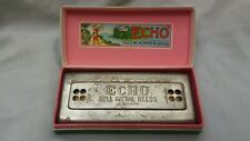 The Echo Bell Metal Reeds Harmonica In Box M. Hohner Made In Germany Key of C, G