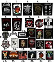 Metallica Patch Embroidered Patches Rammstein Nirvana Iron Maiden AC/DC Official