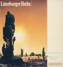 Lüneburger Heide Prospekt mit Gaststätten Führer Sommerfrischen Karte 1938