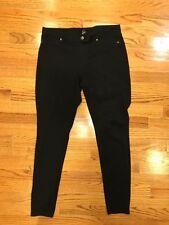HUE Black Denim Skinny Leg Leggings Women Size L