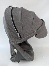 Stokke SCOOT stroller SEAT ONLY black melange READ