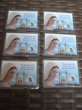 Virgin Mary (Lot 6 pieces) Medjugorje Prayer Medal Card Our lady Mother Of God