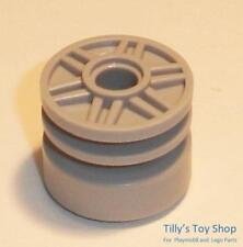 Lego-Six Large Pneus moyeux de roues-Medium Stone Grey-ID 55981 20896-Neuf