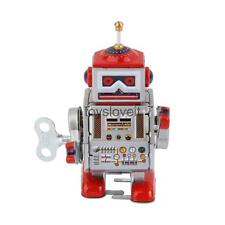 Wind Up Robot MS406 Mechanical Clockwork Tin Toy Collectibles Gift