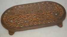 Vintage Cast Iron Trivet Hot Plate /w Brass Glazing ODI 1995 China