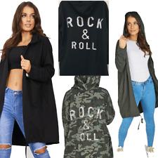 GIRLS Women Sequin ROCK & ROLL Over-sized Hoodie Sweatshirt Jacket Coat Cardigan