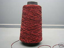 100 GRAM CONE LUREX YARN RED-BLACK APPROX 720M 832