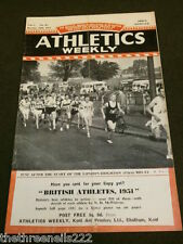 ATHLETICS WEEKLY - OCT 20 1951 - VICTORIA PARK HARRIERS