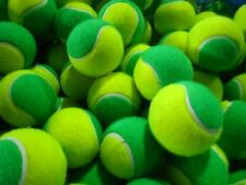 12 USED SOFT TENNIS BALLS - GREEN - SHORT TENNIS / COACHING  - FREE DELIVERY
