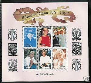MALDIVES # 2295-2297 PRINCESS DIANA MEMORIAL Miniature Sheets