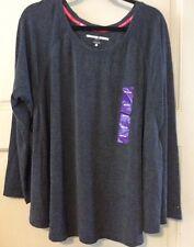 New Dark Gray Shirt Top 2X/3X $59 Tommy Hilfiger Sweatshirt Sport Hi Lo Women's