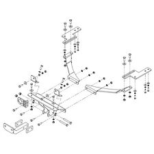 Towbar for Volvo V50 Estate 2004-2013 - Flange Tow Bar