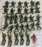 Vintage Plastic MPC Ringhand Plastic Civil War Soldier Figure Lot x30+