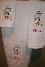Mickey Full Sketch Personalized 3 Piece Bath Towel Set