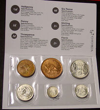1963 & 1964  Australian Pre Decimal Coin Set in folder, last coin set issued