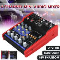 4 Kanal Professional Audio Mischpult USB MP3 bluetooth Musik Stereo Mixer 48V
