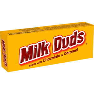 Milk Duds American Chocolate Theatre box - American Milk Chocolate Milk Dud Ball