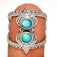 Genuine Larimar - Dominican Republic 925 Silver Ring Jewelry s.6.5 BR15285  XGB