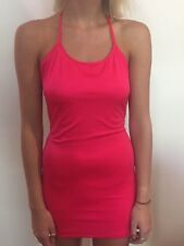 Red Dress Vintage 90's  Size 8 10 12 Aus One Off Clubbing Party Fluro