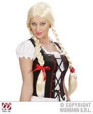 Señoras de largo Rubio Peluca Con Trenzas Oktoberfest Alpes Girl Fancy Dress
