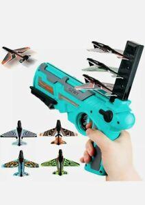 Airplane Launcher Boy Toys Catapult Plane Gun Kids Outside Flying Shooting Game