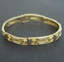 Antique Jugenstil Wiener Werkstatte 18k Sapphire 7 Seed Pearl Bracel