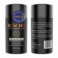 Hair Building Fibers Conceal Thinning Hair Unisex by Rewind With Nature 15g (Bla
