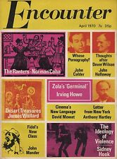 "ENCOUNTER MAGAZINE (April 1970) FIDEL'S NEW CLASS-ZOLA'S ""GERMINAL""-JOHN CALDER"