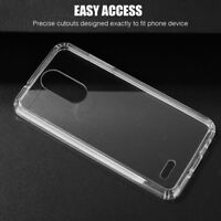 LG Stylo 3 / Plus Hybrid TPU Rubber Silicone Protective Case Clear Cover + Kit
