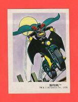 1978  13  Batgirl  DC Super Hero Stickers Food Issue No Logo Rare