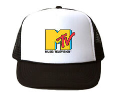 MTV Trucker Hat Mesh Cap Snapback Adjustable Brand New-Black
