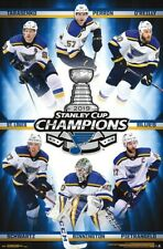 ST LOUIS BLUES - 2019 STANLEY CUP CHAMPIONS POSTER - 22x34 - HOCKEY 17721