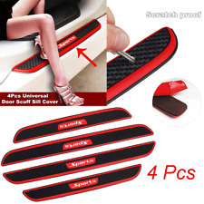 4pc Universal Rubber Car Door Scuff Sill Cover Panel Step Anti-stratch Protector
