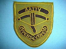 VIETNAM WAR SUBDUED PATCH, AUSTRALIAN ARMY TRAINING TEAM  AATTV PERSEVERE