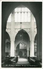 REAL PHOTO POSTCARD CHIPPING NORTON CHURCH INTERIOR, OXFORDSHIRE, FRANK PACKER 2