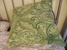"Karigar Mastercrafts Embroidered Decorator Feather Pillow Green Lime 20"" Square"
