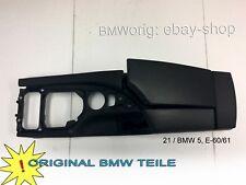 BMW 5, E-60/61  Mittelkonsole+Armlehne-Leder - schwarz