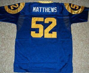 CLAY MATTHEWS Unsigned Custom Blue Sewn New Football Jersey Size S,M,L,XL,2X,3XL